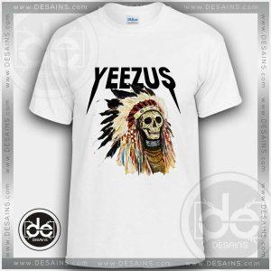 Buy Tshirt Kanye Yeezus Skull Indians Tshirt mens Tshirt womens Tees size S-3XL
