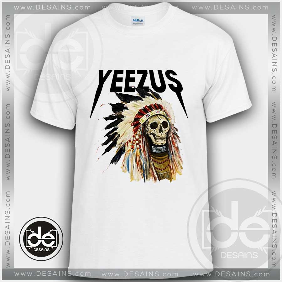 5699c3ca1f4 Yeezus Tour Merch Indian Headdress T Shirt - BCD Tofu House