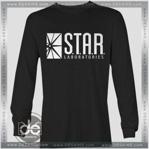 Buy Tshirt Long Sleeve Star Labs The Flash Tshirt mens Tshirt womens