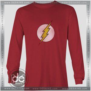 Buy Tshirt Long Sleeve The Flash Logo DC Comics Tshirt mens Tshirt womens