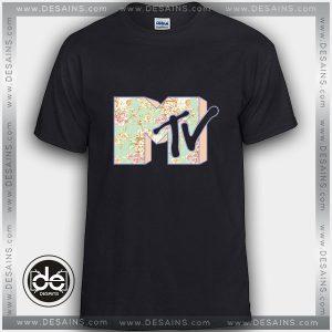 Buy Tshirt MTV Rose Flower Logo Tshirt mens Tshirt womens Tees size S-3XL