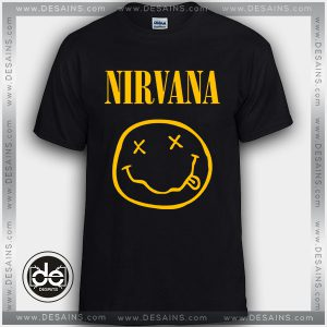 Buy Tshirt Nirvana Band Smiley Tshirt mens Tshirt womens Size S-3XL