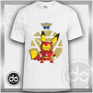 Buy Tshirt Pika Iron Man Pokemon Go Tshirt mens Tshirt womens Size S-3XL
