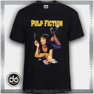 Buy Tshirt Pulp Fiction Movie Poster Tshirt mens Tshirt womens Size S-3XL