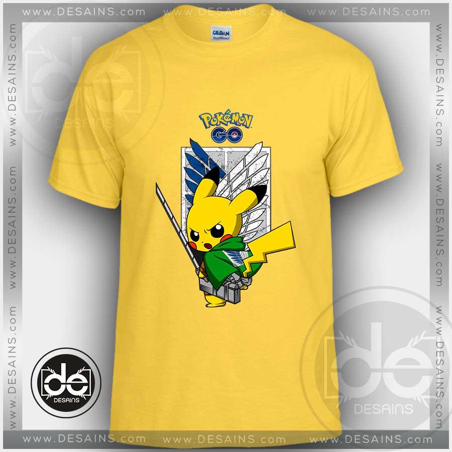 b93a2e44 Buy Tshirt Attack on Titan Pikachu Pokemon Go Tshirt Kids Children and  Adult Tshirt