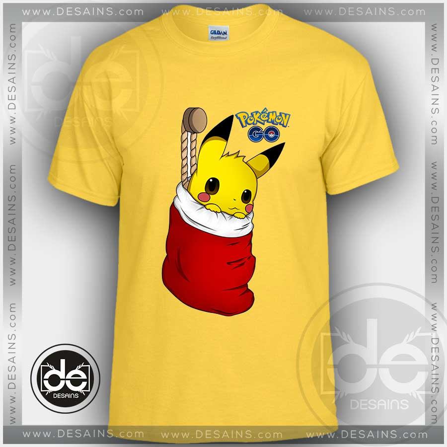 tshirt christmas pikachu pokemon go tshirt kids children and adult tshirt - Christmas Pikachu