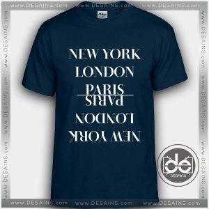 Tshirt New York London Paris Tshirt mens Tshirt womens Tees Size S-3XL