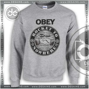 Sweatshirt Obey Rocket To Nowhere Sweater Womens and Sweater Mens