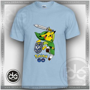 Buy Tshirt Pokemon Go Zelda Pikachu Tshirt Kids Children and Adult Tshirt