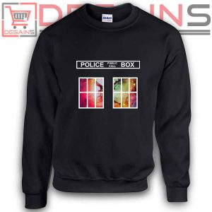 Sweatshirt Police Box Tardis Dr Who Sweater Womens and Sweater Mens