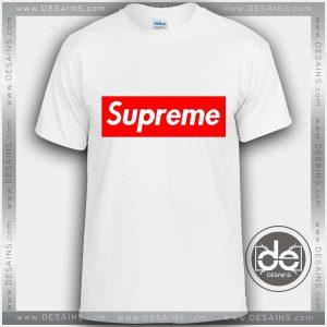 Buy Tshirt Supreme Red Logo Tshirt mens Tshirt womens Tees Size S-3XL