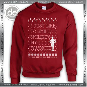 Sweatshirt Elf Smiling's Quotes Sweater Womens and Sweater Mens