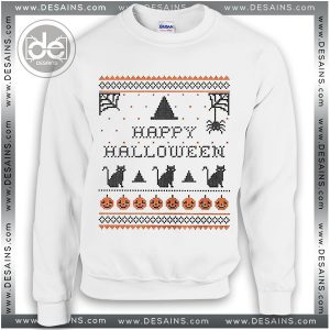 Sweatshirt Happy Halloween Holiday Sweater Womens and Sweater Mens