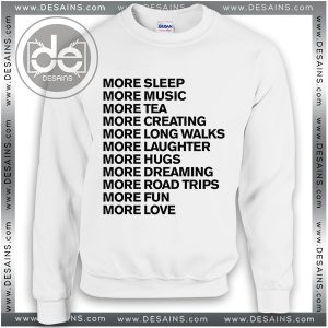 Buy Sweatshirt More Life Goals Sweater Womens and Sweater Mens