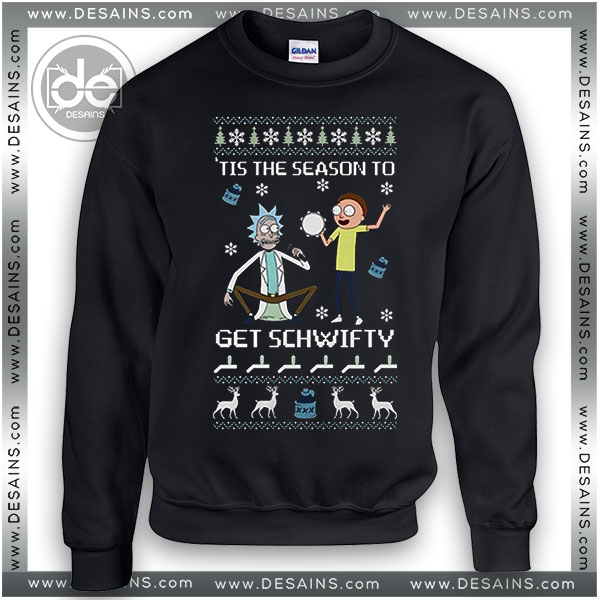 Buy Sweatshirt Rick & Morty Get Schwifty Sweatshirt Womens and Mens