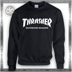 Sweatshirt Thrasher Skateboard Magazine Sweater Womens and Mens