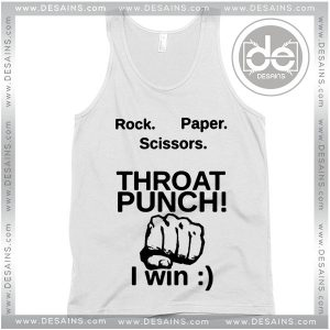 Tank Top Paper Scissors Throat Punch Custom Tank top Womens Mens