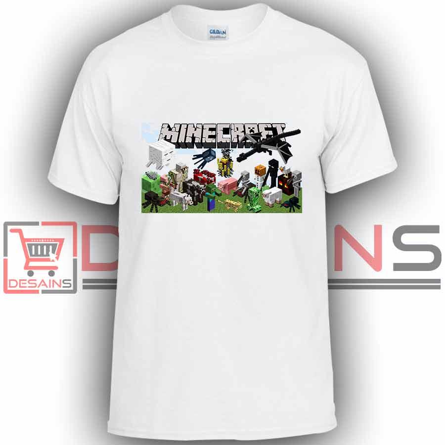 Buy tshirt minecraft games tshirt kids youth and adult for Small quantity custom t shirts