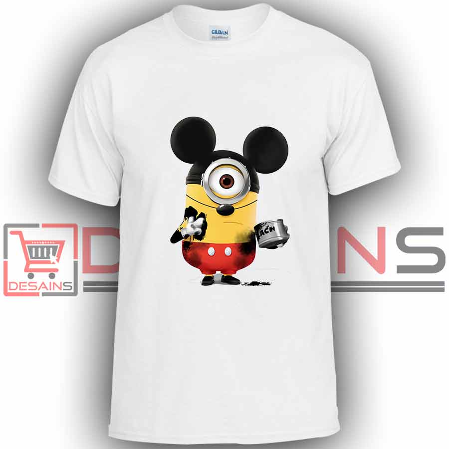 df6d60522af Buy Tshirt Minion Mickey Mouse Tshirt Kids Youth and Adult Tshirt Custom