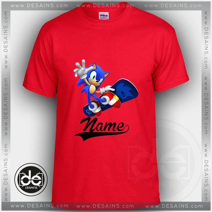 Sonic the Hedgehog t-shirt Size 10-12 L 14-16 XL 18 New Riding Skateboard Child