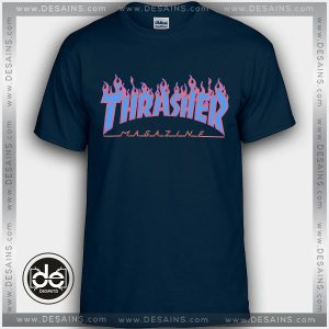 Buy Tshirt Thrasher Blue Tshirt Womens Tshirt Mens Tees size S-3XL