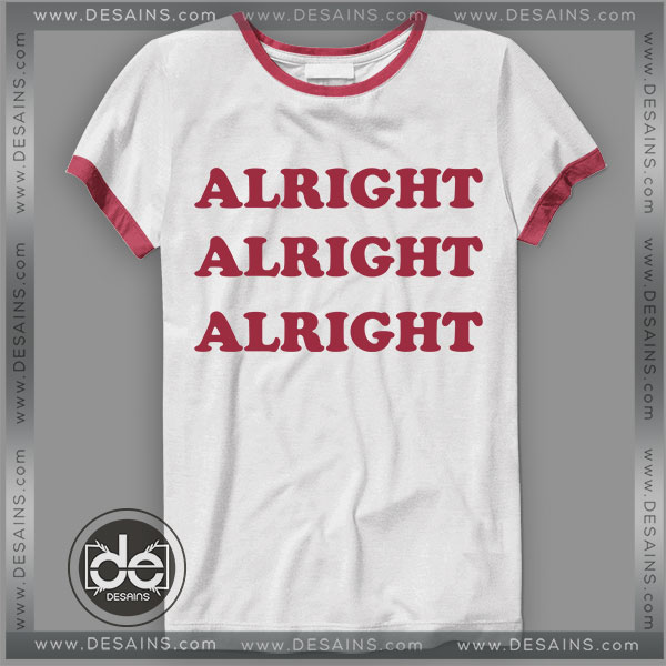 Buy Tshirt Ringer Tee Alright Tshirt Ringer Womens Mens size S-3XL
