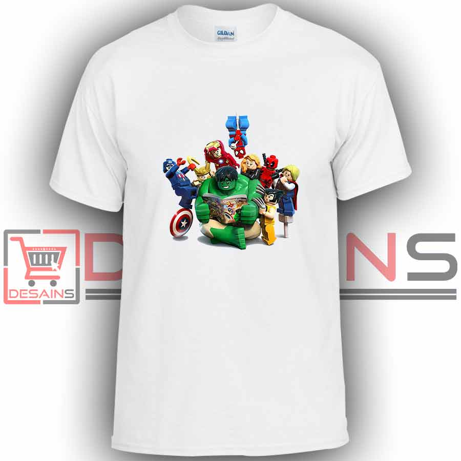 Buy tshirt lego marvel superhero tshirt kids and adult for Personalized t shirts for kids cheap