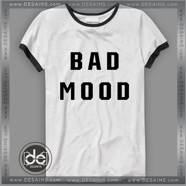 Buy Tshirt Ringer Tee Bad Mood Tshirt Ringer Womens Mens size S-3XL