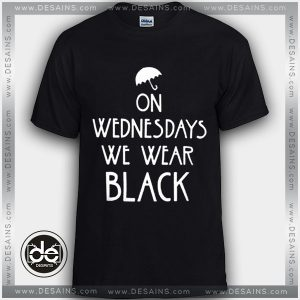 Buy Tshirt On Wednesdays We Wear Black Tshirt Womens Tshirt Mens Tees Size S-3XL