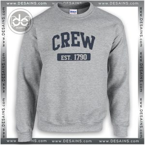 Buy Sweatshirt Crew est 1790 Sweater Womens and Sweater Mens Sport Grey