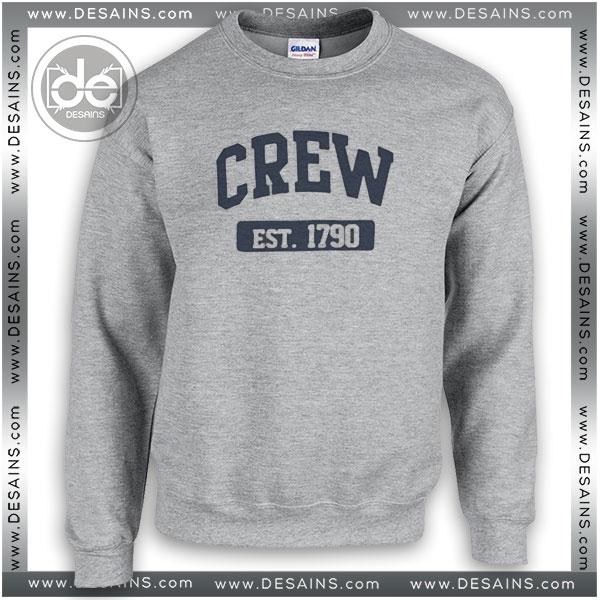 Buy Sweatshirt Crew est 1790 Sweater Womens and Sweater Mens Sport Grey