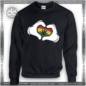 Buy Sweatshirt Mickey mouse Hands Rasta Sweater Womens Sweater Mens