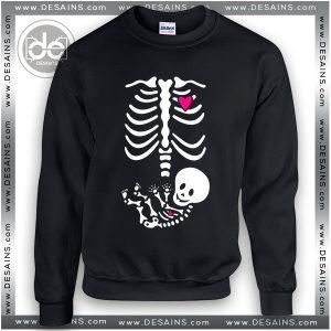 Buy Sweatshirt Pregnant Skeleton Maternity Halloween Sweater Womens Sweater Mens