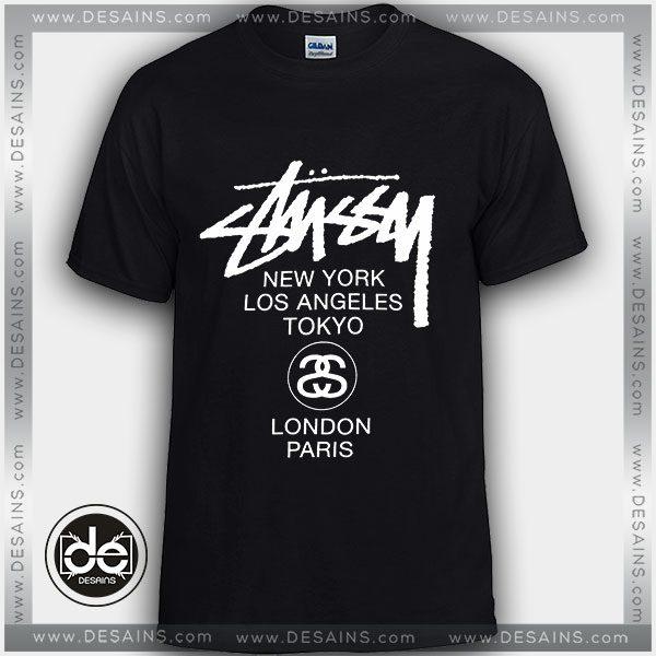 f5148dc7e Buy Tshirt Stüssy World Tour Tshirt Womens Tshirt Mens Tees Size S-3XL –  Cheap Graphic Tee Shirts