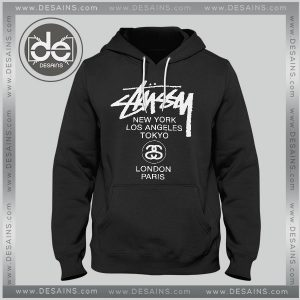 Buy Hoodies Stussy Logo World Tour Hoodie Mens Hoodie Womens Adult Unisex