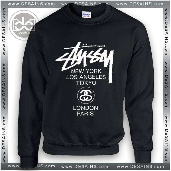 cc430e6f01 Buy Sweatshirt Stussy World Tour Sweater Womens and Sweater Mens