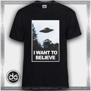 Buy Tshirt i want to Believe Aliens Tshirt Womens Tshirt Mens Tees Size S-3XL