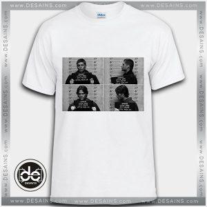 Buy Tshirt Sam Dean Supernatural Mugshots Tshirt Womens Tshirt Mens Tees Size S-3XL
