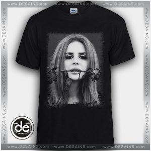 Buy Tshirt Lana Del Rey Loves Roses In Mouth Tshirt Womens Tshirt Mens Tees Size S-3XL