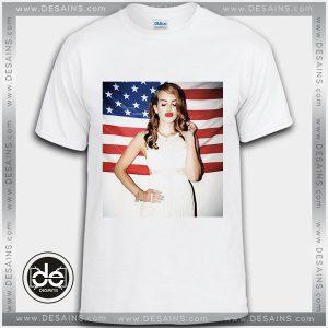 Buy Tshirt Lana Del Rey In Frame American Flag Tshirt Womens Tshirt Mens Tees Size S-3XL