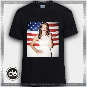 Buy Tshirt Lana Del Rey In Frame American Flag Tshirt Womens Tshirt Mens Tees Size S-3XL Black