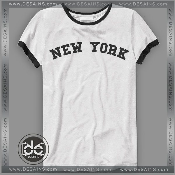 Buy Tshirt Ringer Tee New York City Tshirt Ringer Womens Mens size S-3XL 3228b66b5a2