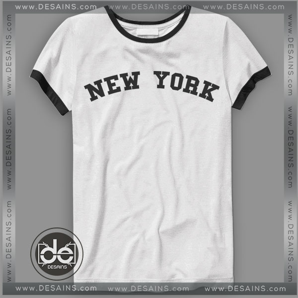 Buy Tshirt Ringer Tee New York City Tshirt Ringer Womens Mens size S-3XL