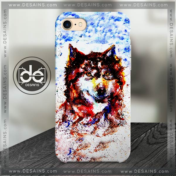 Buy Phone Cases Watercolor Wolf Art Iphone Case Samsung galaxy case