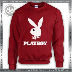 Buy Sweatshirt Playboy Logo Sweater Womens and Sweater Mens Red