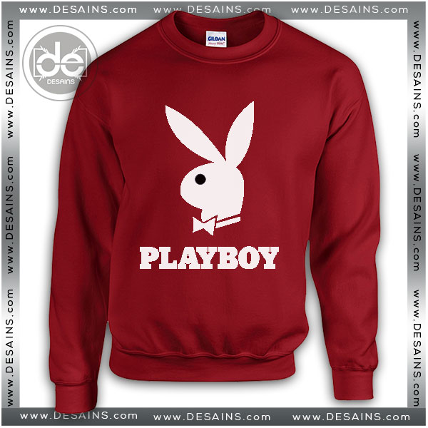 a17189755120 Buy Sweatshirt Playboy Logo Sweater Womens and Sweater Mens Red
