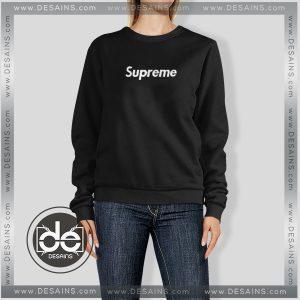 Buy Sweatshirt Black Supreme Logo Sweater Womens and Sweater Mens