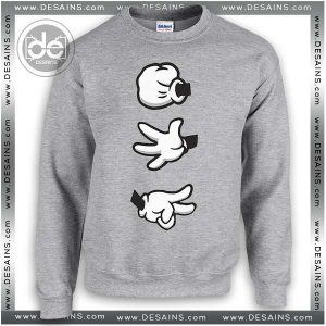 Buy Sweatshirt Rock Paper Scissors Mickey hands Sweater Womens and Sweater Mens