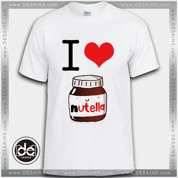 Cheap Tee Shirt Dress I Heart Nutella Custom Tshirt