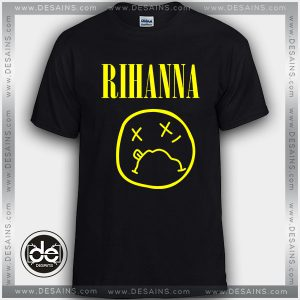 Cheap Tee Shirt Rihanna Logo Nirvana Custom T-Shirt